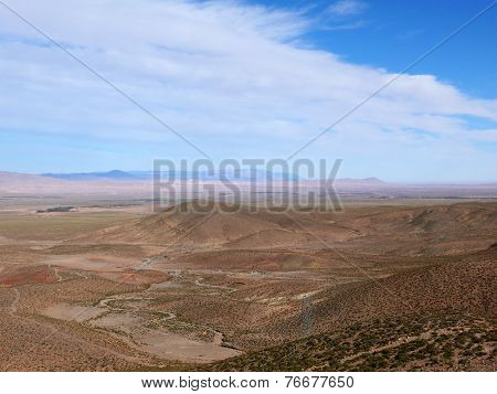 Dry Hills Of The Moroccan Atlas Mountains