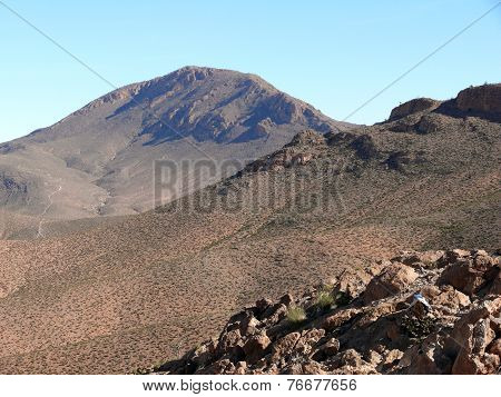 Eroded Mountains In Atlas Region Of Morocco