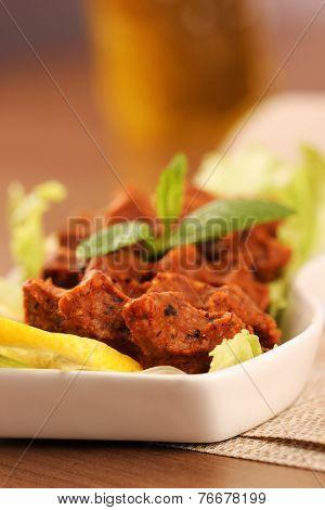 Turkish meatball, raw meat