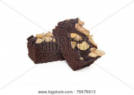 Brownies Isolated On White Background