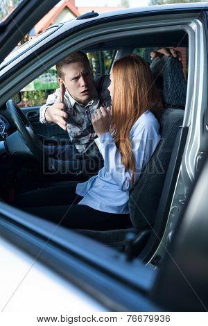 Man Screaming At Female Driver