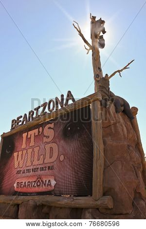An Entrance Sign At Bearizona, Williams, Arizona