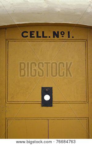 Prison cell door.