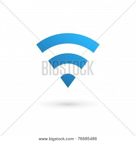 Letter V Wireless Logo Icon Design Template Elements