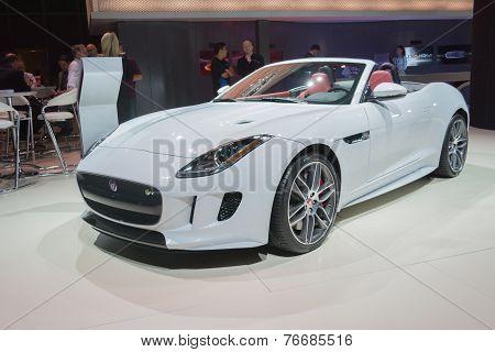 Jaguar F-type Convertible Car On Display