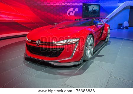 Volkswagen Gti Roadster Concept 2015 On Display