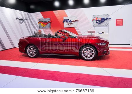 Ford Mustang Gt Convertible 2015 On Display