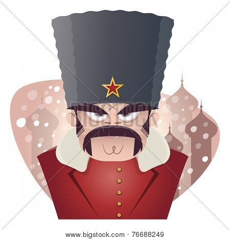 angry russian or soviet man