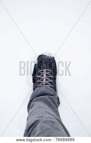 Walking Boots In The Snow