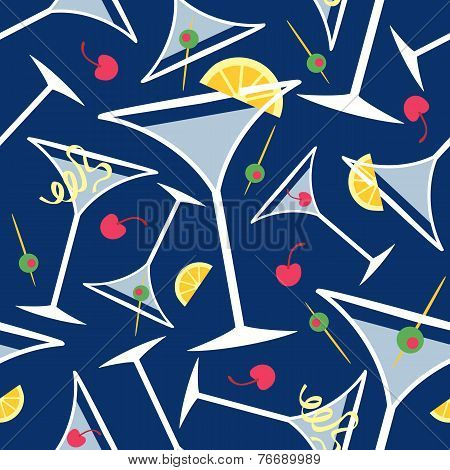 Blue Martinis Pattern
