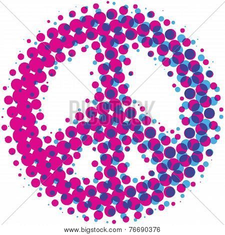 Halftone Peace Symbol