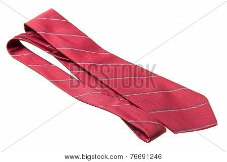 Red With Strips Business Neck Tie