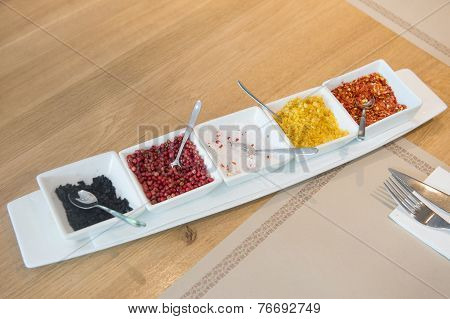 Condiments variety
