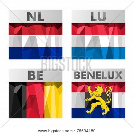 Benelux Countries Flags