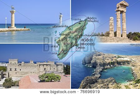 Rhodes Island And Rhodes City