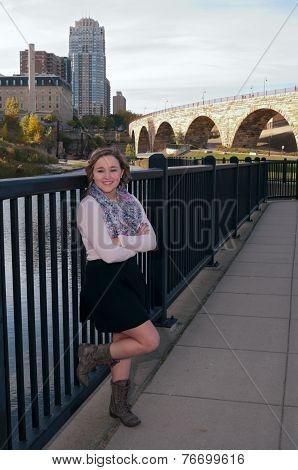Teen Female Portrait Full Body In Minneapolis