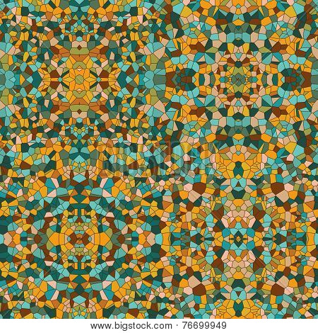 Mosaic vector seamless pattern