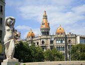 barcelona architecture poster