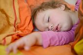 stock photo of sweet dreams  - sweet dreams of the lovely toddler girl - JPG