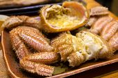stock photo of craw  - steamed original japanese hairy crab on dish - JPG