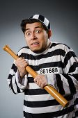 foto of inmate  - Funny prison inmate in concept - JPG