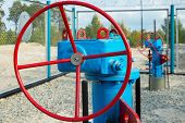 picture of pipeline  - Gas valves for controlling gas pressure in the pipeline - JPG