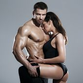 stock photo of studio  - Passionate couple - JPG