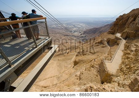 Tourists On Masada
