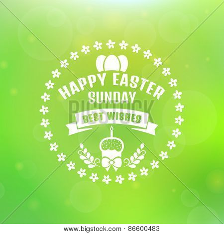 Vector Easter Card. Blurred Background.