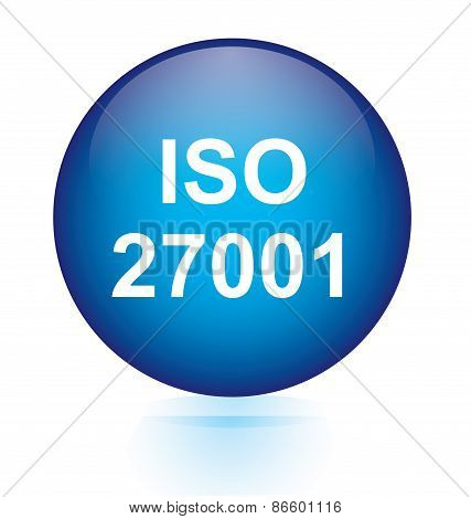 ISO 27001 blue button