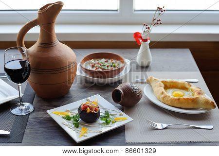 Traditional Georgian Cuisine.