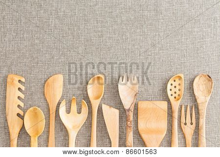 Border Of Wooden Kitchen Necessities