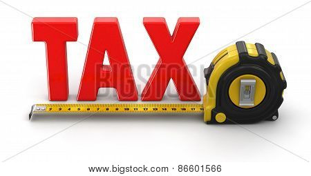 ruler and TAX (clipping path included)