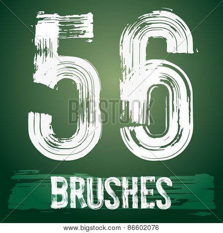 Vector set of grunge brush font available for military, construction and transportation themes. Numbers 5 6