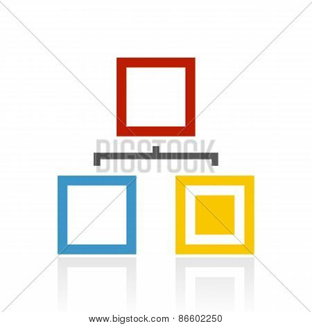Color Hierarchy Icon