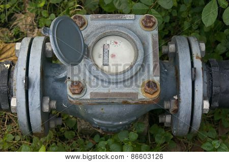 Old And Rust Water Meter