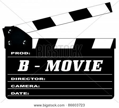 B Movie Clapperboard