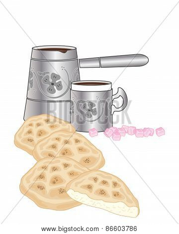 Turkish Bread And Coffee