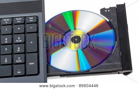 Electronic Collection - Laptop With Open Dvd Tray