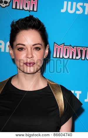 LOS ANGELES - MAR 26:  Rose McGowan at the Just Jared's Throwback Thursday Party at the Moonlight Rollerway on March 26, 2015 in Glendale, CA