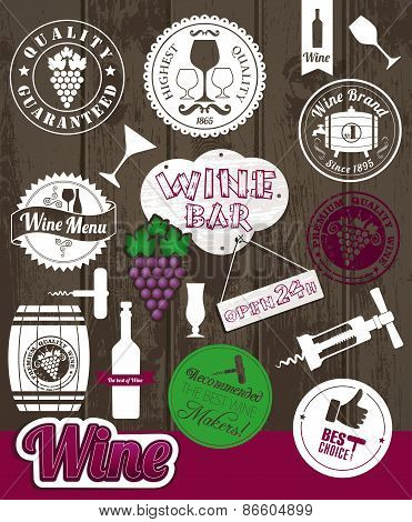 Vector Stock wine Illustration