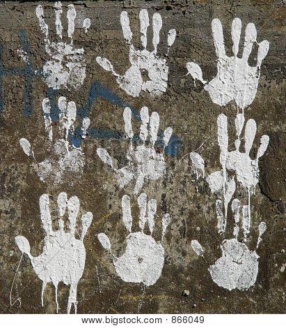 White hands