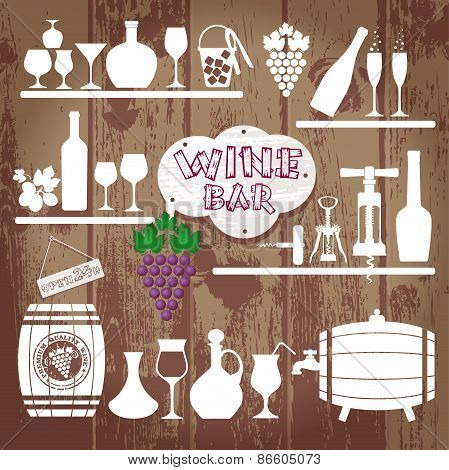 Vector Stock Illustration of wine