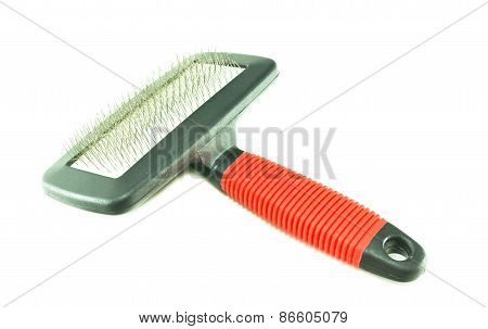 Pet Brush On A White Background