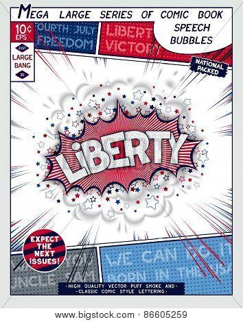 Stylized series comics speech bubble