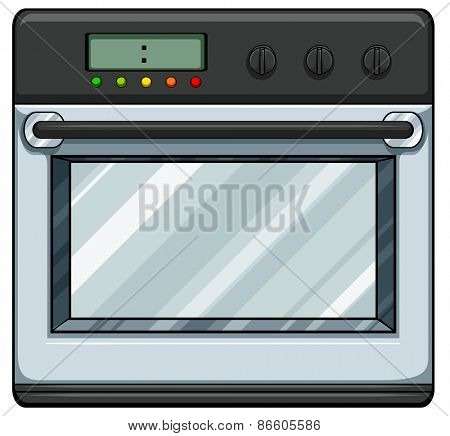 Close up modern electronic oven