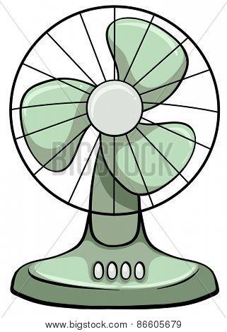 Close up plain electric fan