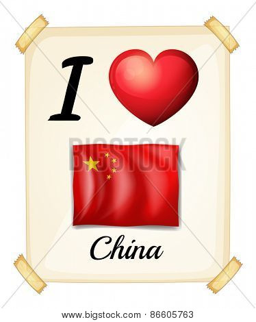 Poster I love China on the wall