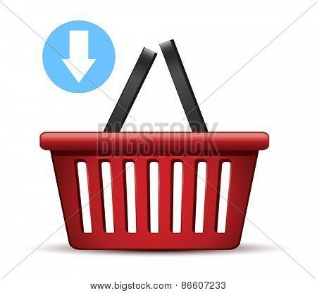 Shopping basket.Vector