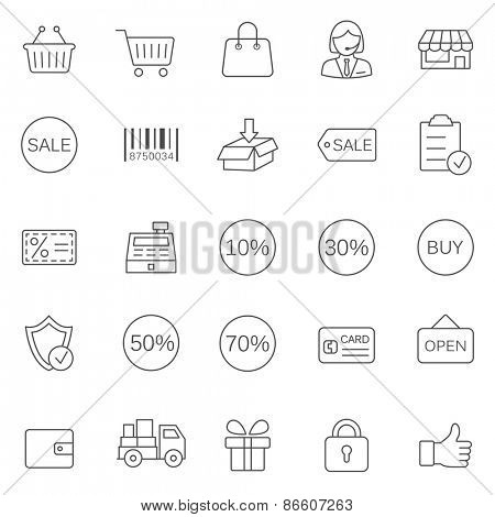 Sale line icons set.Vector